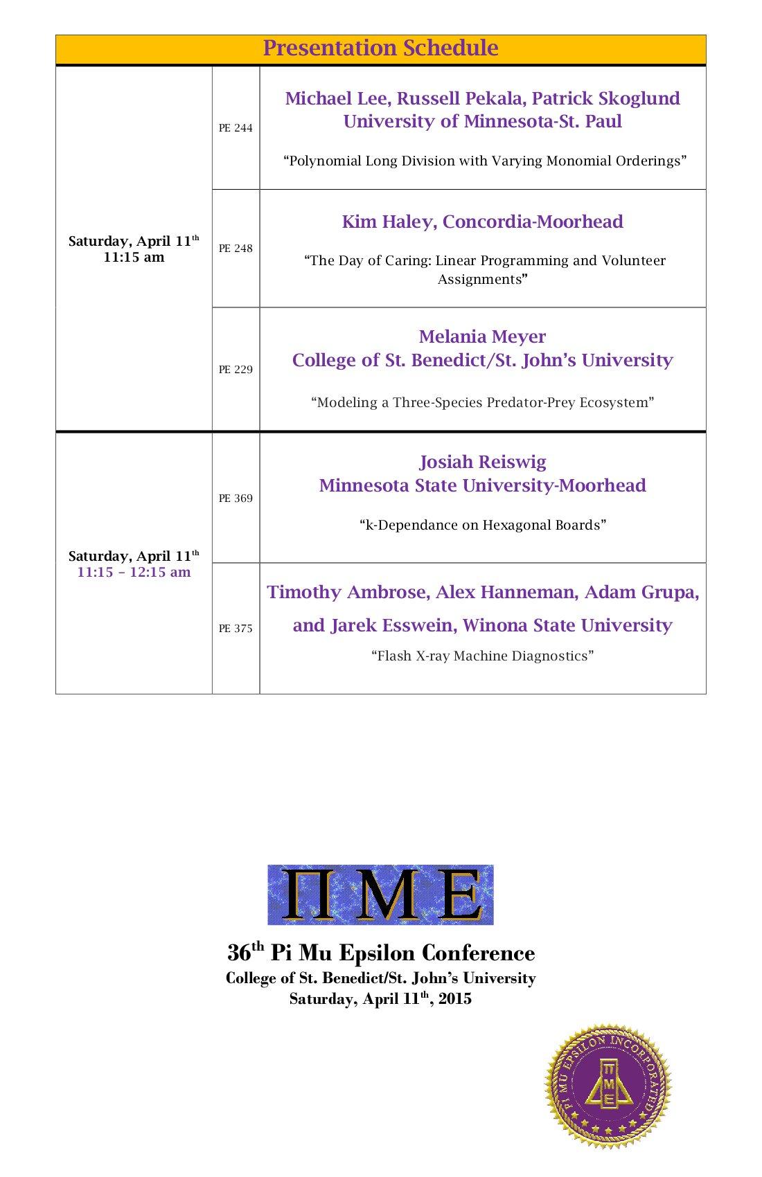 Saturday Schedule (2)